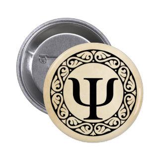 Greek Alphabet Letter Psi 6 Cm Round Badge