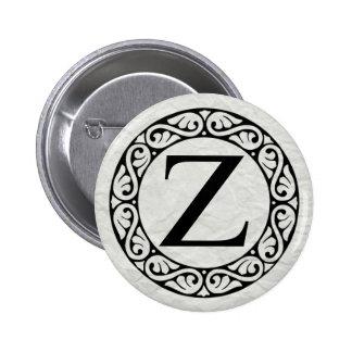 Greek Alphabet Letter Zeta 6 Cm Round Badge