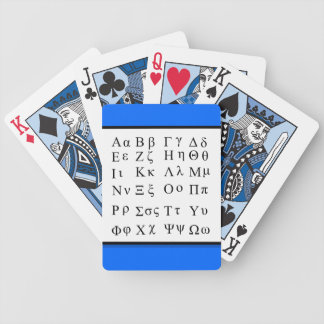 Greek alphabet playing cards