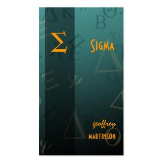 Greek alphabets profile card pack of standard business cards