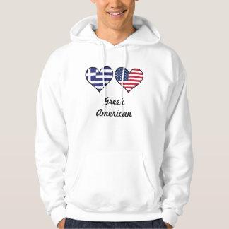 Greek American Flag Hearts Hoodie