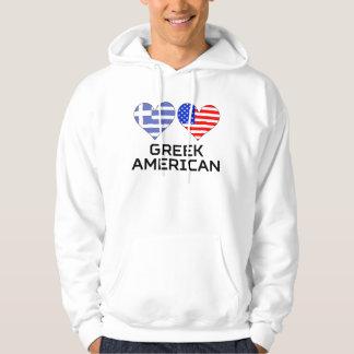 Greek American Hearts Hoodie