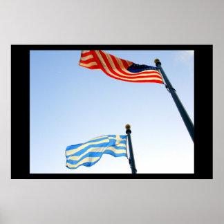 Greek American Poster