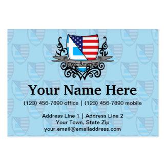 Greek-American Shield Flag Business Card Template