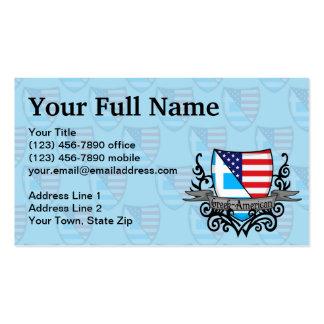 Greek-American Shield Flag Business Card Templates