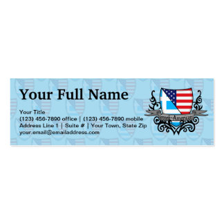 Greek-American Shield Flag Pack Of Skinny Business Cards