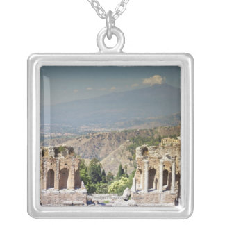 Greek Amphitheatre Silver Plated Necklace