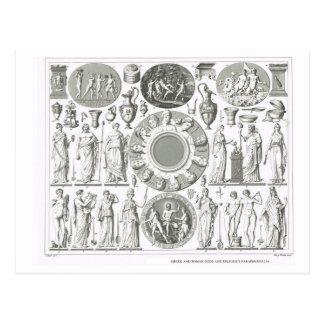 Greek and Roman gods Postcard