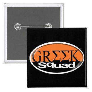 greek 15 cm square badge