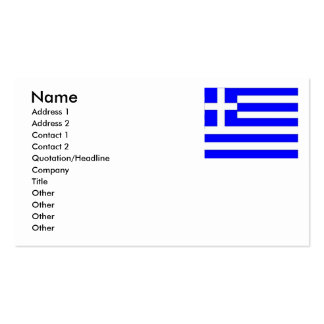 Greek Bussiness Cards Pack Of Standard Business Cards
