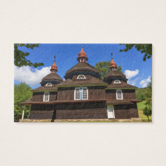 Greek catholic church, Nizny Komarnik, Slovakia Business Card
