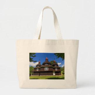 Greek catholic church, Nizny Komarnik, Slovakia Large Tote Bag