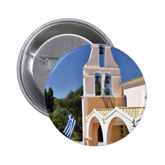 Greek Church In A Summer Day Pinback Button