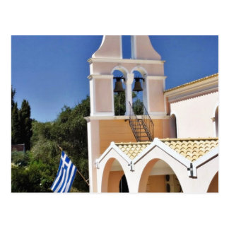 Greek Church In A Summer Day Post Card