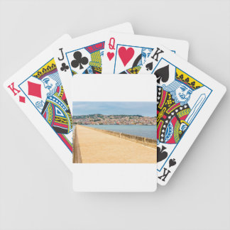 Greek City Port Argostoli with road on bridge Bicycle Playing Cards