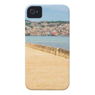 Greek City Port Argostoli with road on bridge iPhone 4 Case