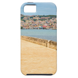 Greek City Port Argostoli with road on bridge iPhone 5 Cases