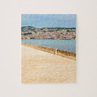 Greek City Port Argostoli with road on bridge Puzzle