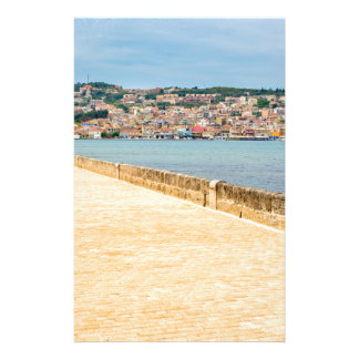 Greek City Port Argostoli with road on bridge Stationery