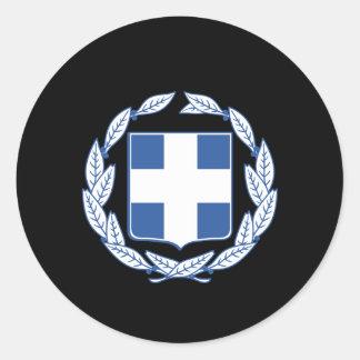 Greek coat of arms round sticker