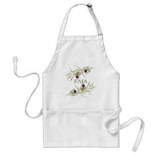 """Greek """"elia"""" for """"olive"""" - olive branch apron"""