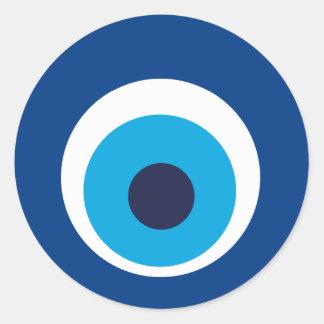 Greek eye classic round sticker