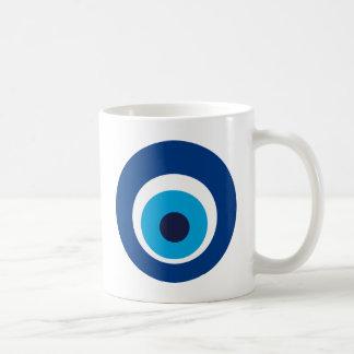 Greek eye coffee mug