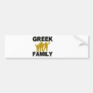 Greek Family Bumper Stickers