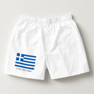 Greek flag boxer shorts underwear for men boxers