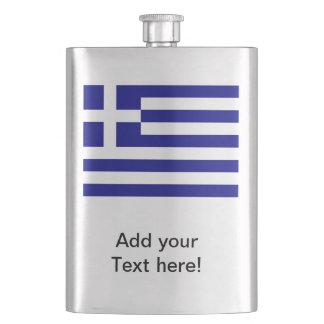 Greek Flag Hip Flasks