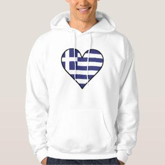 Greek Flag Heart Hoodie