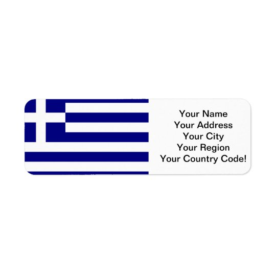 Greek Flag Return Address Label