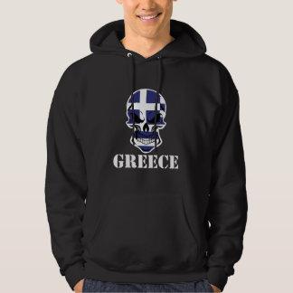 Greek Flag Skull Greece Hoodie