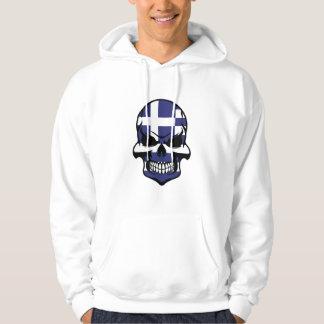 Greek Flag Skull Hoodie