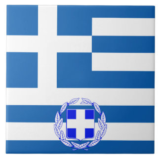 Greek flag tile