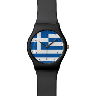 Greek  flag watch