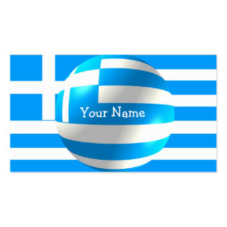 Greek Flag With Bubble Business Card