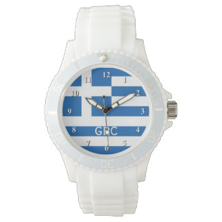 Greek flag wrist watch for men and women