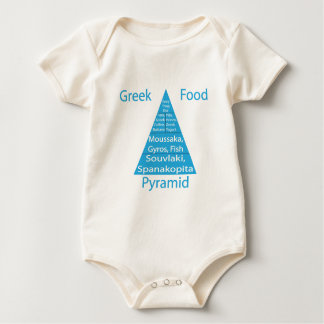 Greek Food Pyramid Baby Bodysuit