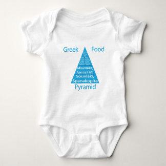 Greek Food Pyramid Tee Shirts
