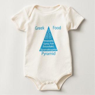 Greek Food Pyramid Baby Bodysuits