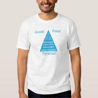 Greek Food Pyramid Tshirts