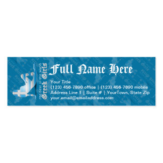 Greek Girl Silhouette Flag Pack Of Skinny Business Cards