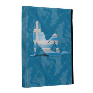 Greek Girl Silhouette Flag iPad Cases