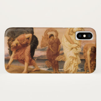 Greek Girls Picking Up Pebbles By Lord Leighton iPhone X Case