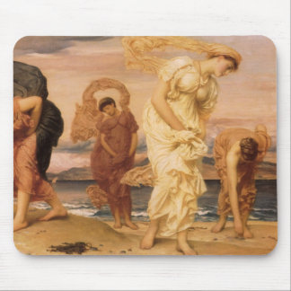 Greek Girls Picking Up Pebbles By The Sea Leighton Mousepad