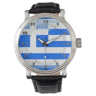 Greek glossy flag wrist watch