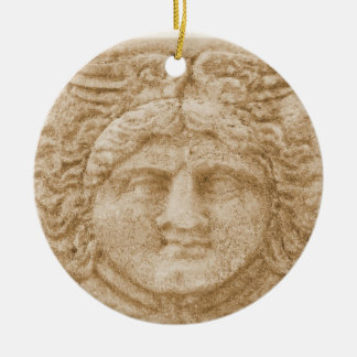 Greek God HERMES Round Ceramic Decoration