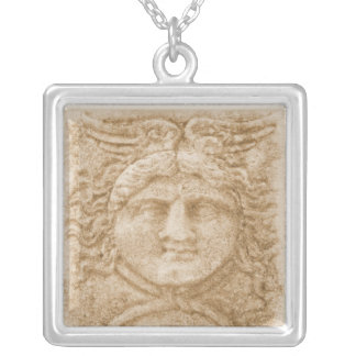 Greek God HERMES Silver Plated Necklace