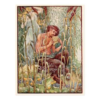 Greek God Pan vintage image Postcard